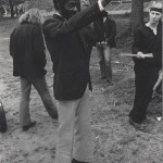 Chuck Berry directing Cadillac to backstage carrier