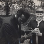 Scott and Chuck Berry laughing it up before gig